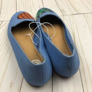 SO Shoes - New! SO Pineapple Blue Flats